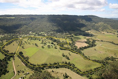 180 acres on two titles - Canungra Creek front offer Residential